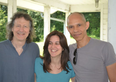 With Clifford Carter and Ira Coleman, Wind Rose recording at Clubhouse Studios, NY